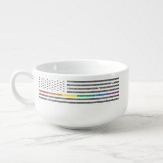 Amerikanische Stolz-Flaggen-Suppen-Tasse Große Suppentasse