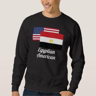 Amerikanische und ägyptische Flagge Sweatshirt