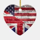 Amerikanische und britische Flagge Keramik Ornament