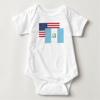 Amerikanische und guatemaltekische Flagge Baby Strampler