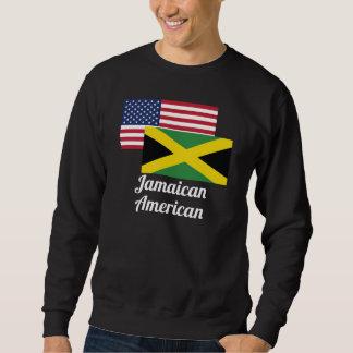Amerikanische und jamaikanische Flagge Sweatshirt