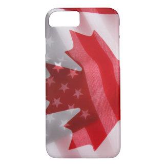 Amerikanische und kanadische Flaggen iPhone 8/7 Hülle