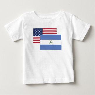 Amerikanische und Nicaraguaflagge Baby T-shirt