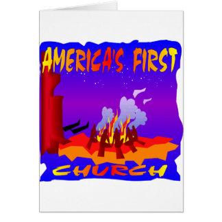 Amerikanische Ureinwohner, erste Kirche Amerikas Karte