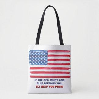 Amerikanische USA-Flagge beleidigt patriotisches Tasche