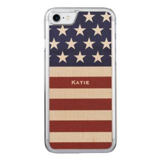 Amerikanische USA-Flagge patriotisch am 4. Juli Carved iPhone 8/7 Hülle