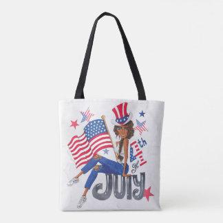Amerikanische USA-Flagge patriotisch am 4. Juli Tasche