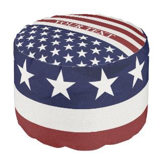 Amerikanische USA-Flaggen-patriotische am 4. Juli Hocker