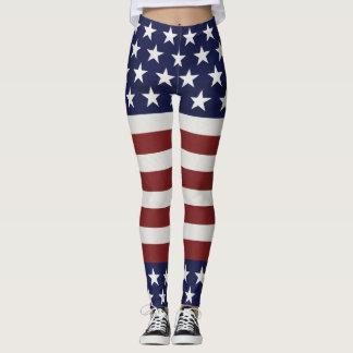 Amerikanische USA-Flaggen-patriotische am 4. Juli Leggings