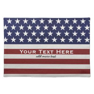 Amerikanische USA-Flaggen-patriotische am 4. Juli Stofftischset