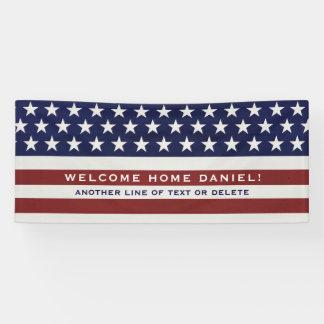 Amerikanische USA-Flaggen-patriotisches am 4. Juli Banner