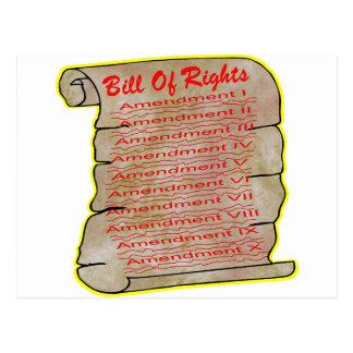 Amerikanische Verfassungsurkunde Postkarte