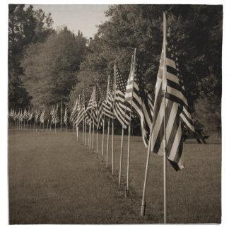 Amerikanische Veteranen-Flaggen Serviette