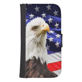 Amerikanische Weißkopfseeadler-Flagge Samsung S4 Geldbeutel Hülle