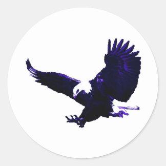 Amerikanische Weißkopfseeadler-Landung Runder Aufkleber