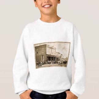 Amerikanische Weststraßen-Szene 1867 Sweatshirt