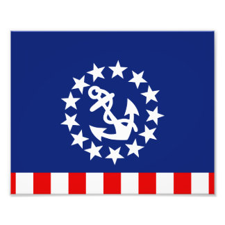 Amerikanische Yacht-nautischflagge ist am Fotodrucke