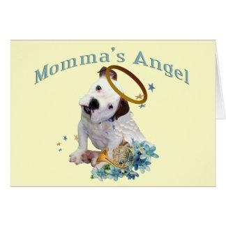 Amerikanischen Bulldogge Mommas Engel Karte