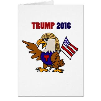 Amerikanischer Adler-Cartoon Spaß-Donald Trump Grußkarte