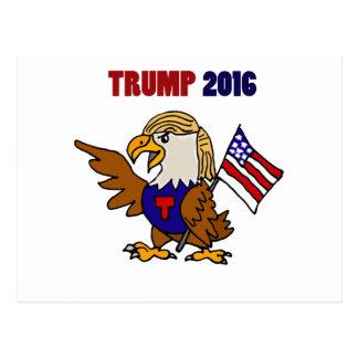 Amerikanischer Adler-Cartoon Spaß-Donald Trump Postkarte