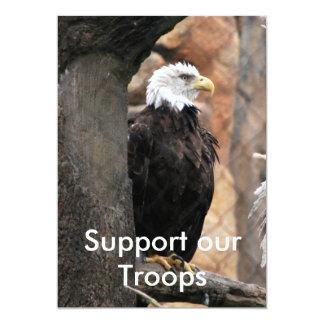 amerikanischer Adler, stützen unsere Truppen 12,7 X 17,8 Cm Einladungskarte