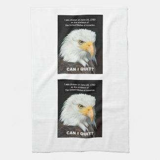 Amerikanischer Adler will, um zu beendigen Handtuch