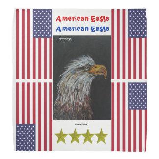 Amerikanischer Adlerkopf des Vogels herauf Halstuch