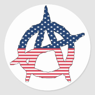 Amerikanischer Anarchie-Aufkleber Runder Aufkleber