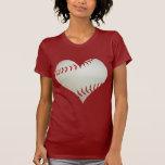 Amerikanischer Baseball in einer Herz-Form Shirt
