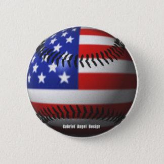 Amerikanischer Baseball Runder Button 5,1 Cm