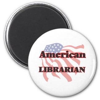 Amerikanischer Bibliothekar Runder Magnet 5,1 Cm