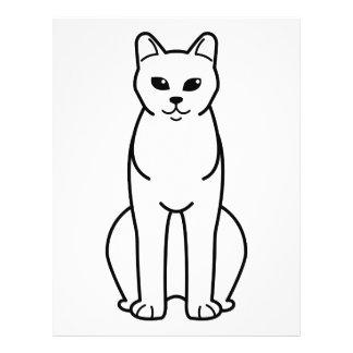 Amerikanischer birmanische Katzen-Cartoon Flyer