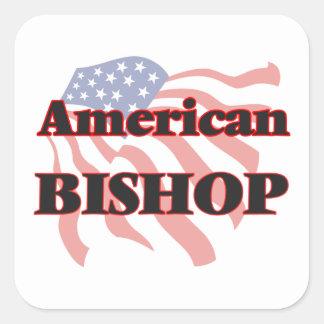 Amerikanischer Bischof Quadratischer Aufkleber