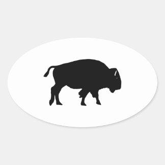 Amerikanischer Bison-Ikone Ovaler Aufkleber