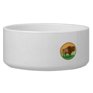 Amerikanischer Bison-Oval-Holzschnitt Napf