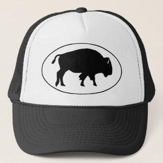 Amerikanischer Bison-Oval-Logo Truckerkappe