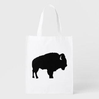 Amerikanischer Bison Wiederverwendbare Einkaufstasche