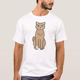 Amerikanischer Bobtail Katzen-Cartoon T-Shirt