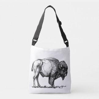 Amerikanischer Büffel-Bison Tragetaschen Mit Langen Trägern