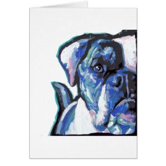 amerikanischer Bulldogge Spaß-Hundehelle bunte Karte
