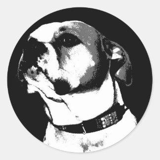Amerikanischer Bulldoggenaufkleber Runder Sticker