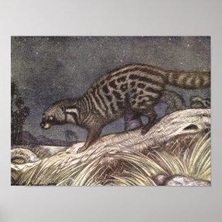 Amerikanischer Civet durch Louis Sargent, Vintage Poster