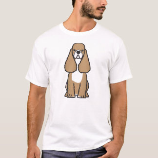 Amerikanischer Cockerspaniel-Hundezucht-Cartoon-T T-Shirt
