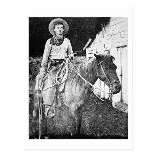 Amerikanischer Cowboy in Kansas, c.1880 (b/w Foto) Postkarte