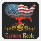 Amerikanischer Deutscher wurzelt Aufkleber