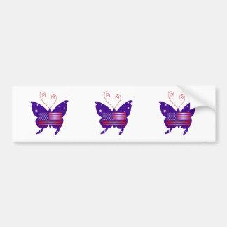 Amerikanischer Diva-Schmetterling Autosticker