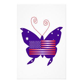Amerikanischer Diva-Schmetterling Personalisiertes Druckpapier