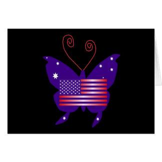 Amerikanischer Diva-Schmetterling Karte