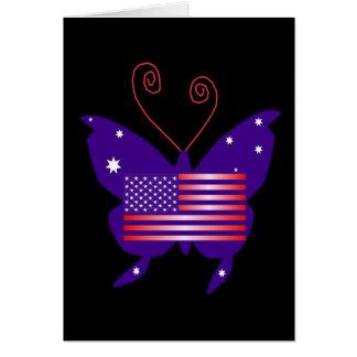 Amerikanischer Diva-Schmetterling Karten