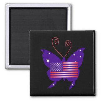 Amerikanischer Diva-Schmetterling Magnets